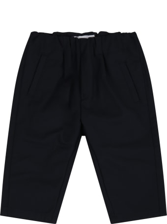 Armani Collezioni Blue Pants For Babykids With Logo