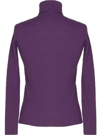 alyki Purple Wool And Cashmere Turtleneck Sweater