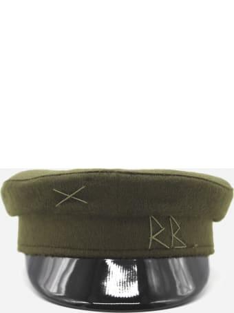 Ruslan Baginskiy Wool Baker Boy Hat With Embroidered Logo