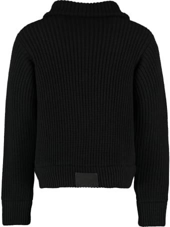 MSGM High Collar Zipped Cardigan