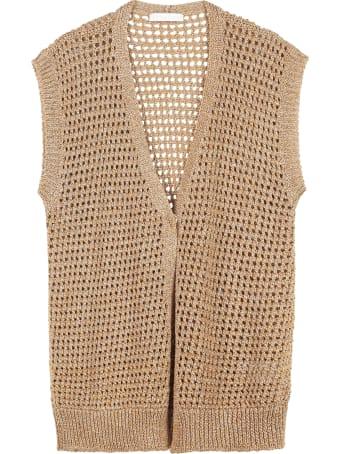 Fabiana Filippi Lurex Open-knit Cardigan