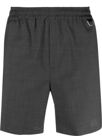 Low Brand Grey Virgin Wool Tokio Bermuda Shorts