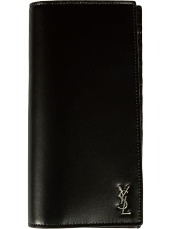 Saint Laurent Logo Plaque Long Wallet