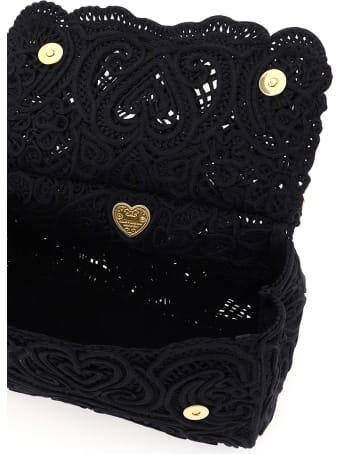 Dolce & Gabbana Sicily Medium Bag In Cordonetto Lace