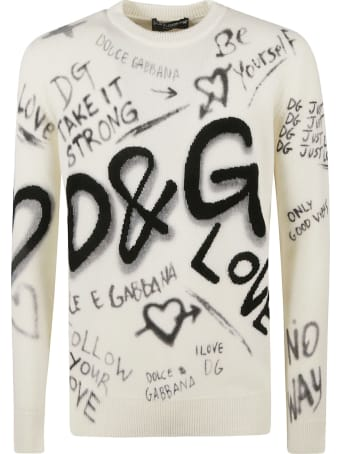 Dolce & Gabbana Logo Print Sweater