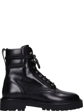 Isabel Marant Campah Combat Boots In Black Leather
