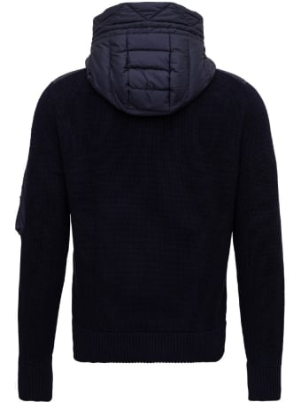 Moncler Knitted Jacket With Padded Front
