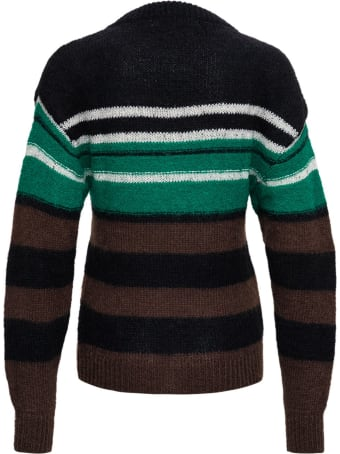 Tela Gina Striped Sweater In Mohair Blend