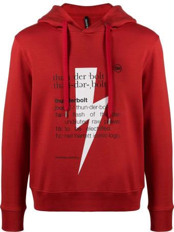 Neil Barrett Red Cotton-modal Blend Hoodie
