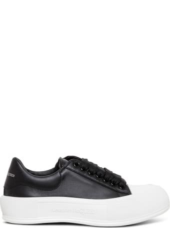 Alexander McQueen Black Skate Leather Sneakers