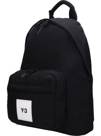 Y-3 Backpack In Black Synthetic Fibers