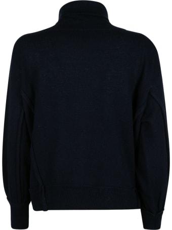 Maison Flaneur Loose Turtleneck Plain Sweater