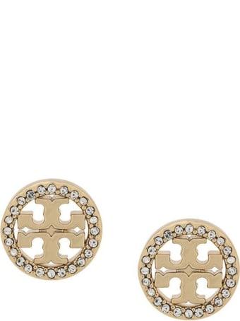 Tory Burch Brass And Swarovski Earrings