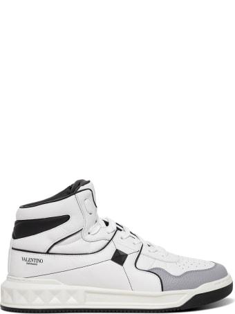Valentino Garavani High Top  Mulitcolor Leather Sneakers