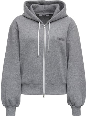 Mauro Grifoni Grey Cotton Hoodie With Logo
