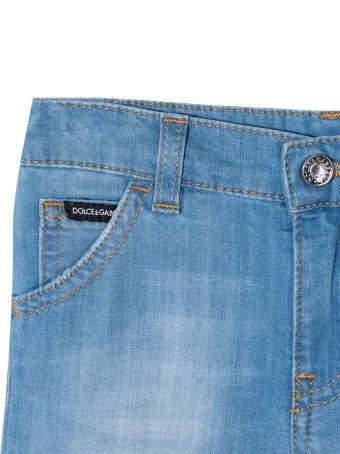 Dolce & Gabbana Stretch Denim Bermuda Pants