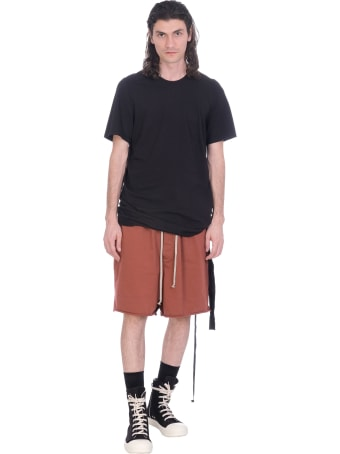 DRKSHDW Faun Shorts In Bordeaux Cotton
