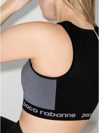 Paco Rabanne Sportive Cropped Top With Logo