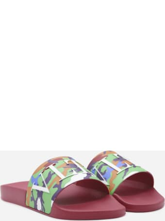Valentino Garavani Camou7 Sandals In Rubber With Camouflage Details