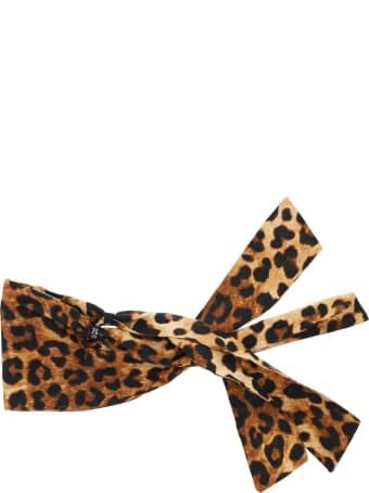 R13 Leopard Print Facescarf Mask