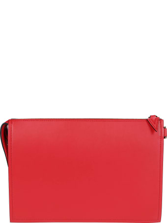 Versace Red Leather Clutch