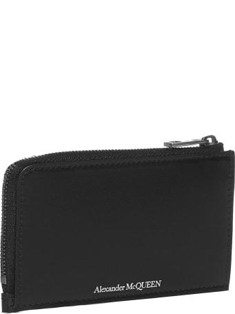 Alexander McQueen Logo Leather Card Holder