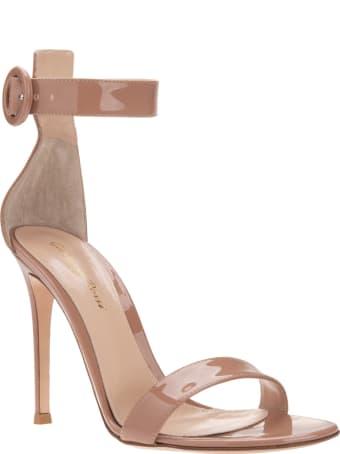 Gianvito Rossi Praline Pink Portofino 105 Sandal