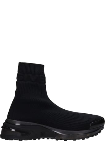 Givenchy Giv Log Sock Sneakers In Black Synthetic Fibers