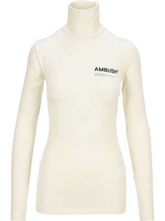 AMBUSH Roll-neck Fitted Logo Top