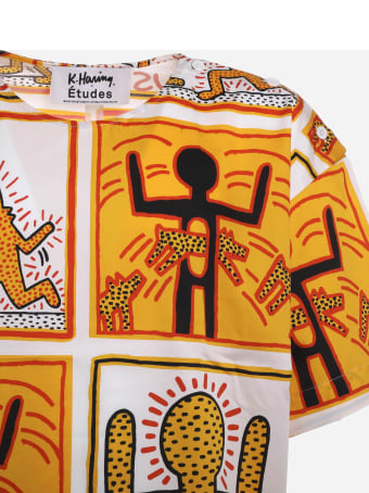 Études Etudes X Keith Haring T-shirt With All-over Graphic Print