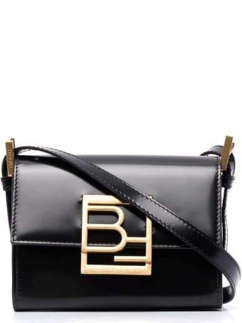 BY FAR Fran Black Semi Patent Leather