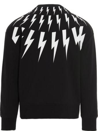 Neil Barrett 'chalk Fair-isle Thunderbolts' Sweatshirt
