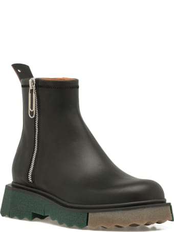 Off-White Smooth Leather Boot