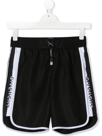 Givenchy Kid Black Swimsuit With Logoed Tapes