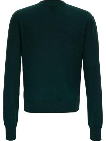 Bottega Veneta Green Sweater In Cashmere Blend