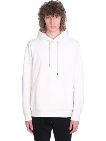 Attachment Sweatshirt In White Cotton