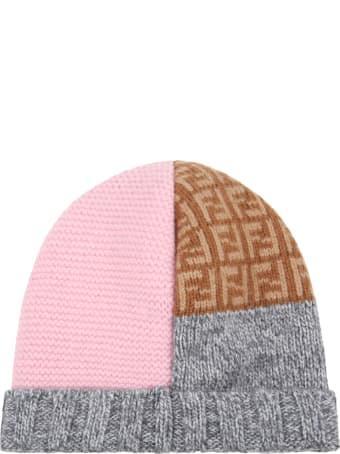 Fendi Multicolor Hat For Baby Girl