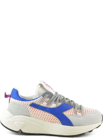 Diadora Blue Suede And Mesh Women's Chunky Sneakers