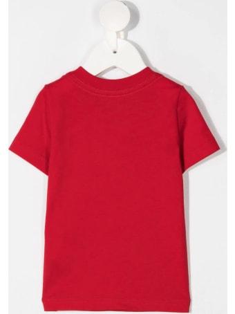 Dsquared2 Newborn Red D2kids Boxer Logo T-shirt