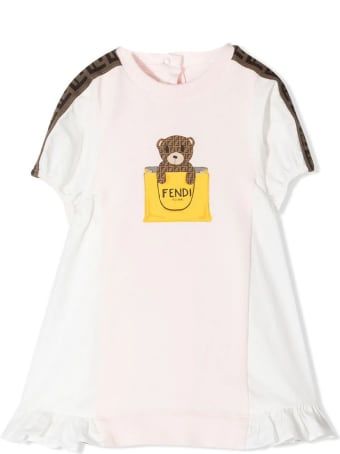 Fendi Pink Cotton-blend Dress