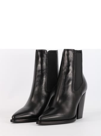 Saint Laurent Theo Texan Boot In Leather