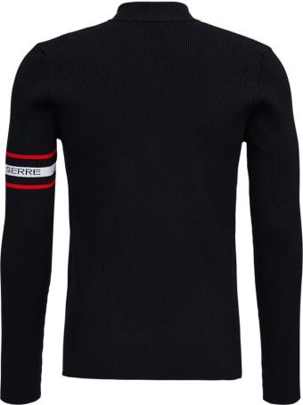 Marine Serre Black Lyocell Blend Sweater With Logo
