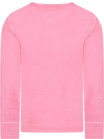 Zadig & Voltaire Pink T-shirt For Girl With Logo