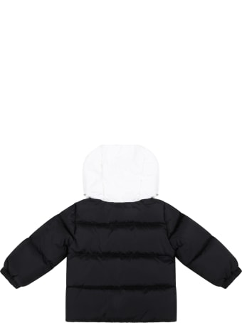"""Moncler Black """"araldo"""" Jacket For Baby Boy With Logo Patch"""