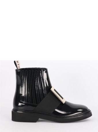 Roger Vivier Viv 'rangers Chelsea Boots In Leather