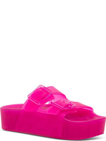 Balenciaga Mallorca Pink Rubber Sandals With Platform