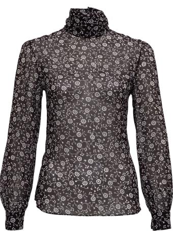 Saint Laurent Floral Silk Georgette Blouse
