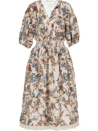 Zimmermann Aliane Shirred Waist Dress