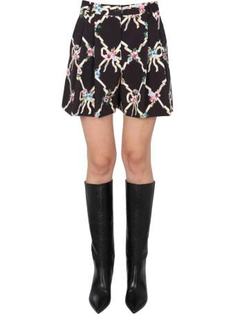 Boutique Moschino Cady Floral Argyle Shorts