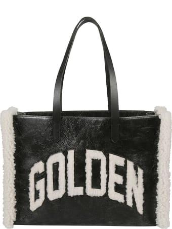 Golden Goose Fur Logo Detail Tote